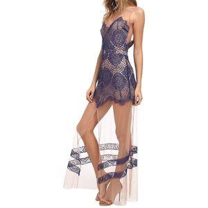 NWOT For Love & Lemons Antigua Maxi Dress - XS